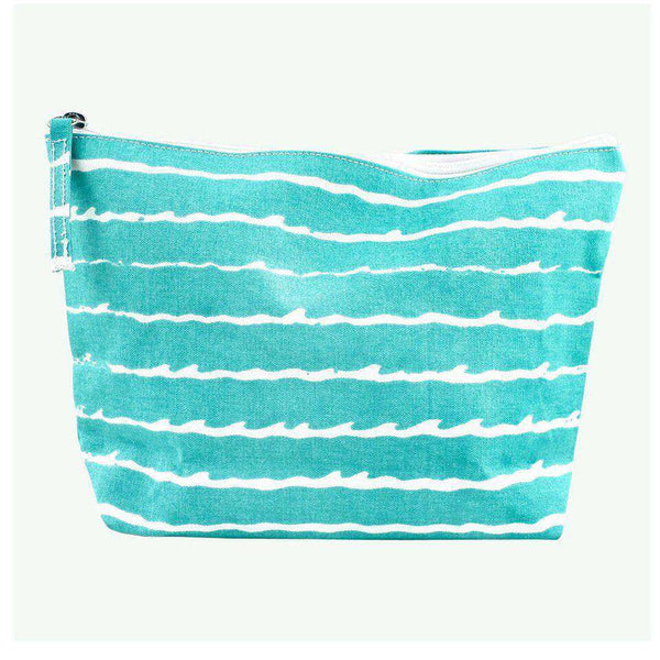 Turquoise Wave Zip Bag by Hiho - FINAL SALE