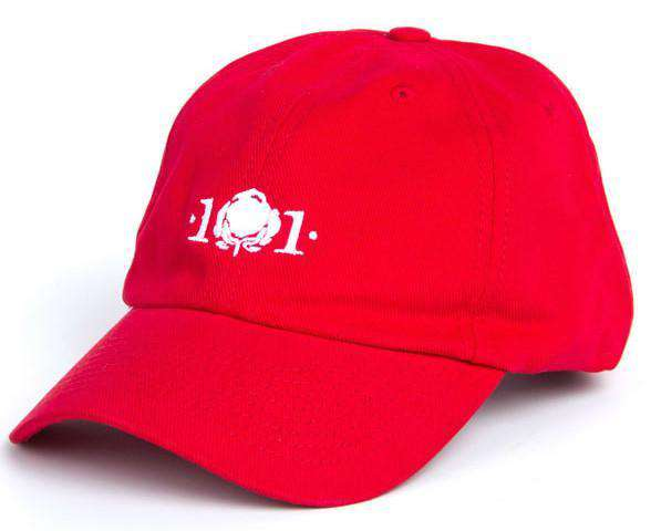 Logo Hat in Red by Cotton 101  - 1