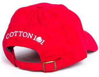 Logo Hat in Red by Cotton 101  - 2