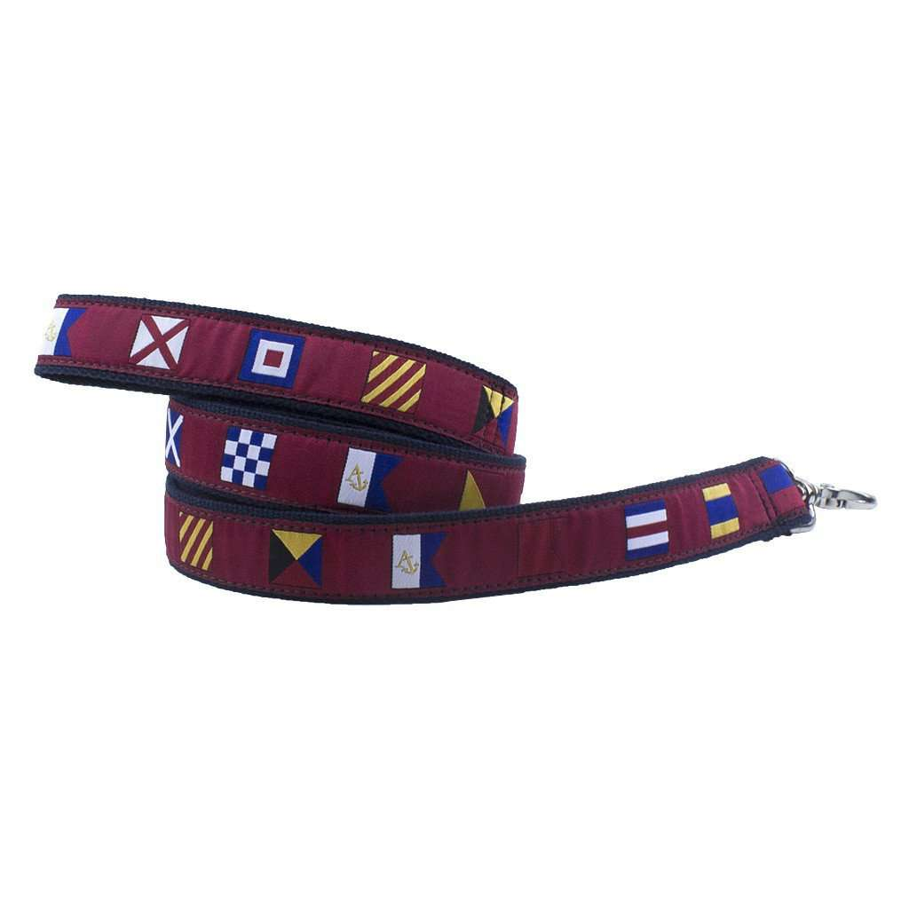 Signal Flag Dog Leash in Crimson by Anchored Style