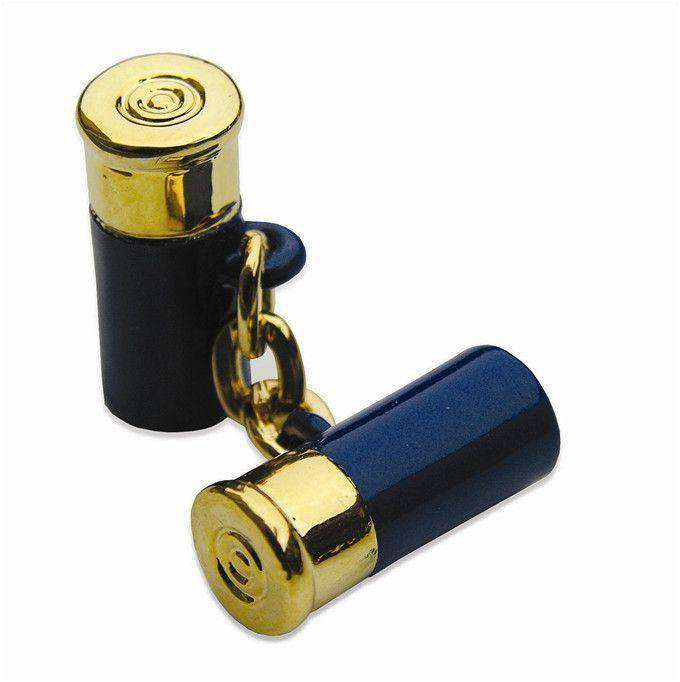 Cufflinks - 12 Gauge Cufflinks In Navy By Bird Dog Bay