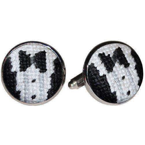 Cufflinks - Black Tie Affair Needlepoint Cufflinks By Smathers & Branson