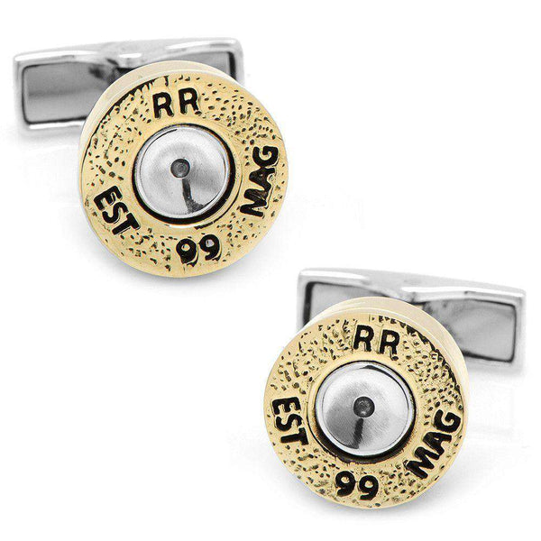 Bullet Cufflinks in Sterling Silver by CufflinksInc