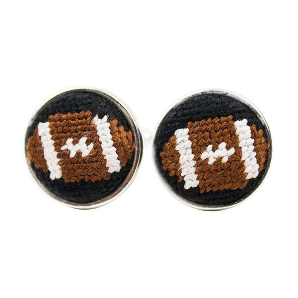 Cufflinks - Football Needlepoint Cufflinks By Smathers & Branson