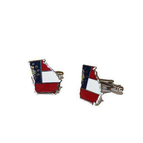 Georgia Traditional Cufflinks by State Traditions - Country Club Prep