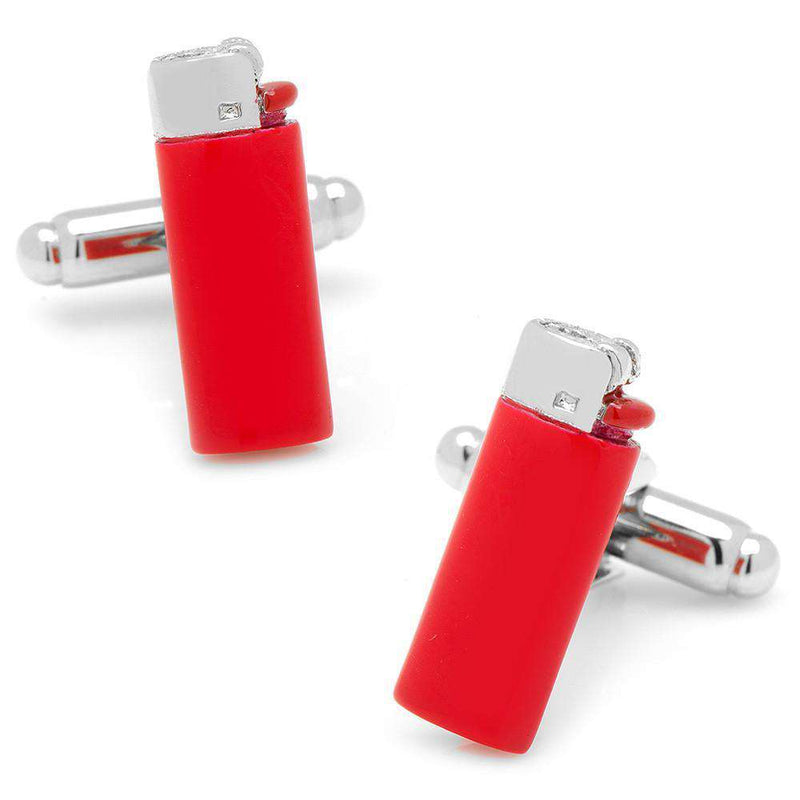 Lighter Cufflinks in Red by CufflinksInc - FINAL SALE