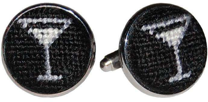 Cufflinks - Martini Needlepoint Cufflinks By Smathers & Branson