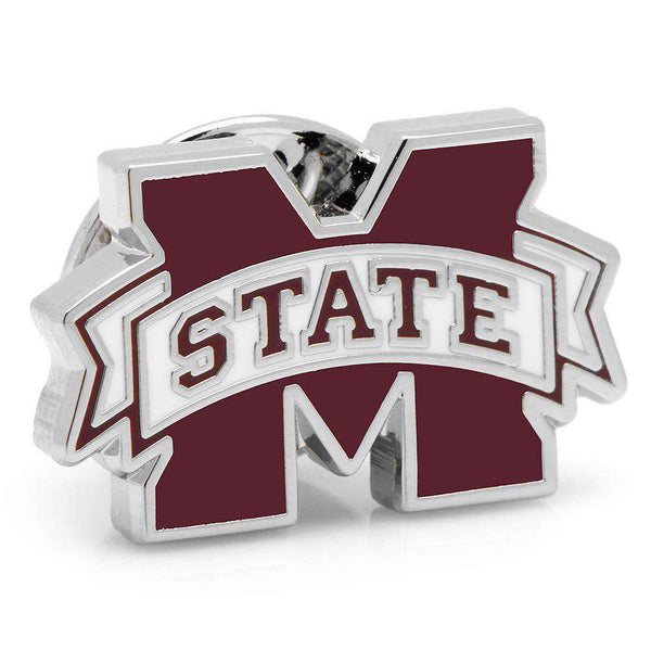 Mississippi State Lapel Pin in Silver by CufflinksInc