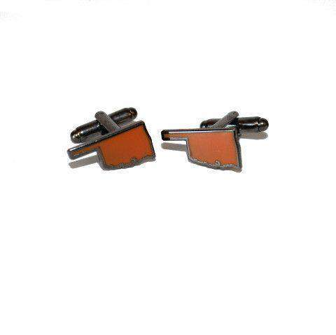 Oklahoma Stillwater Cufflinks by State Traditions - FINAL SALE