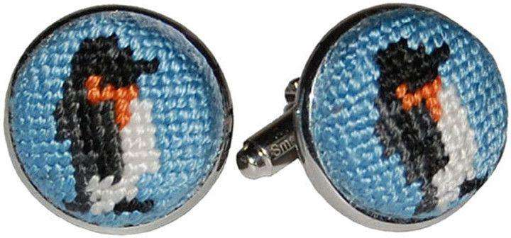 Cufflinks - Penguin Needlepoint Cufflinks By Smathers & Branson