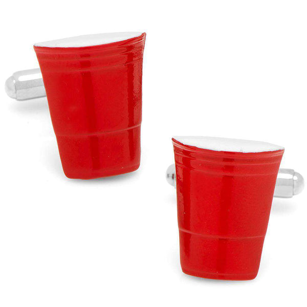 Red Party Cup Cufflinks in Red by CufflinksInc