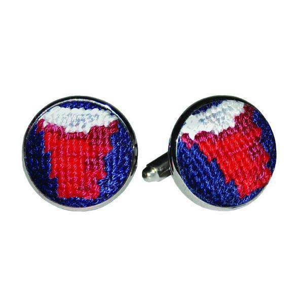 Cufflinks - Solo Cup Needlepoint Cufflinks By Smathers & Branson