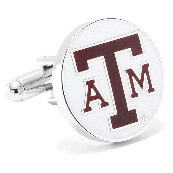 Texas A&M Cufflinks in White by CufflinksInc