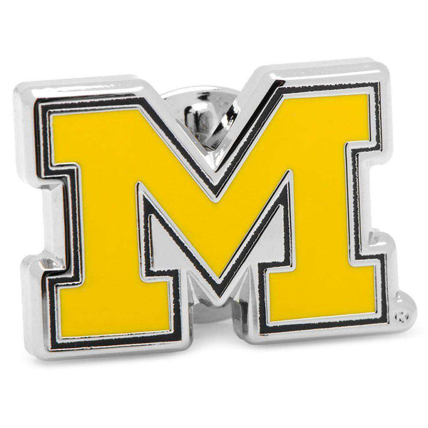 University of Michigan Lapel Pin in Maize by CufflinksInc