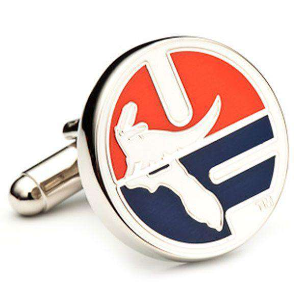 Cufflinks - Vintage University Of Florida UF Logo Cufflinks In Silver By CufflinksInc