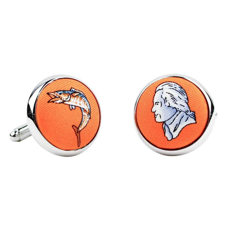 Cufflinks - Wahoo & Jefferson Cufflinks In Orange By Bird Dog Bay