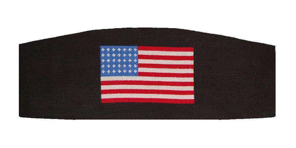 Cummerbund Sets - American Flag Needlepoint Cummerbund In Black By Smathers & Branson