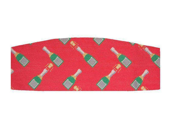 Cummerbund Sets - Champagne Pops Needlepoint Cummerbund In Red By Smathers & Branson