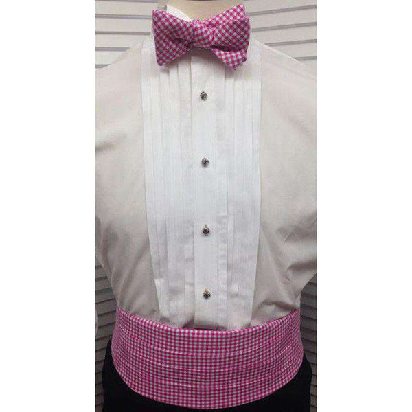 Cummerbund Set in Pink Gingham by Just Madras