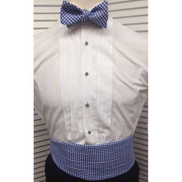 Cummerbund Set in Royal Blue Gingham by Just Madras