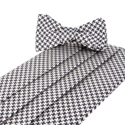 Cummerbund Sets - Gatsby Cummerbund And Bow Set In Black And White By Collared Greens