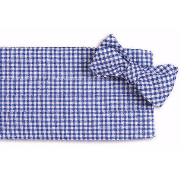 Cummerbund Sets - Gingham Cummerbund Set In Royal Blue By High Cotton