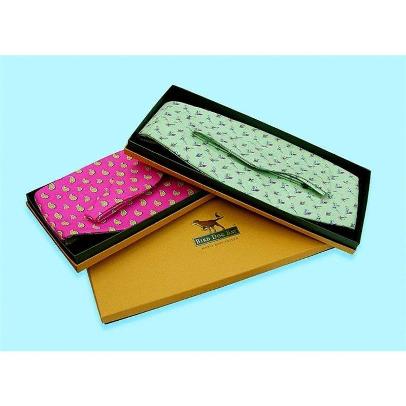 Cummerbund Sets - Hazard On Eight Cummerbund Set In Coral Pink By Bird Dog Bay