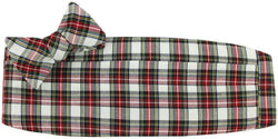 Cummerbund Sets - Holiday Plaid Bow Tie And Cummerbund Set In White By Just Madras