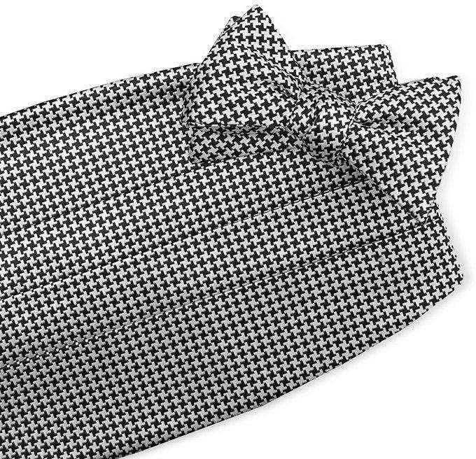 Cummerbund Sets - Houndstooth Cummerbund Set By Bird Dog Bay