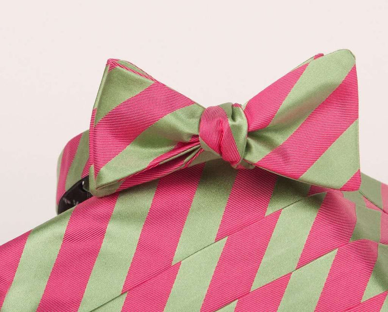 Cummerbund Sets - Makers Cummerbund And Bow Set In Green And Pink By Collared Greens