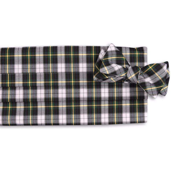 Perry's Plaid Cummerbund Set in Navy and Green by High Cotton