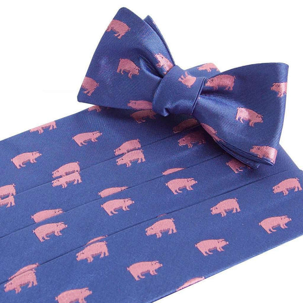 Pigs Royal Cummerbund and Bow Tie Set by Collared Greens