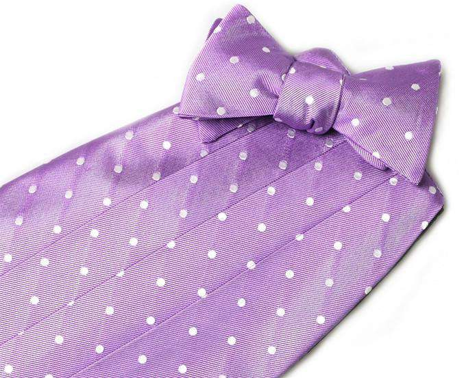 Cummerbund Sets - Spot On Cummerbund Set In Violet By Bird Dog Bay