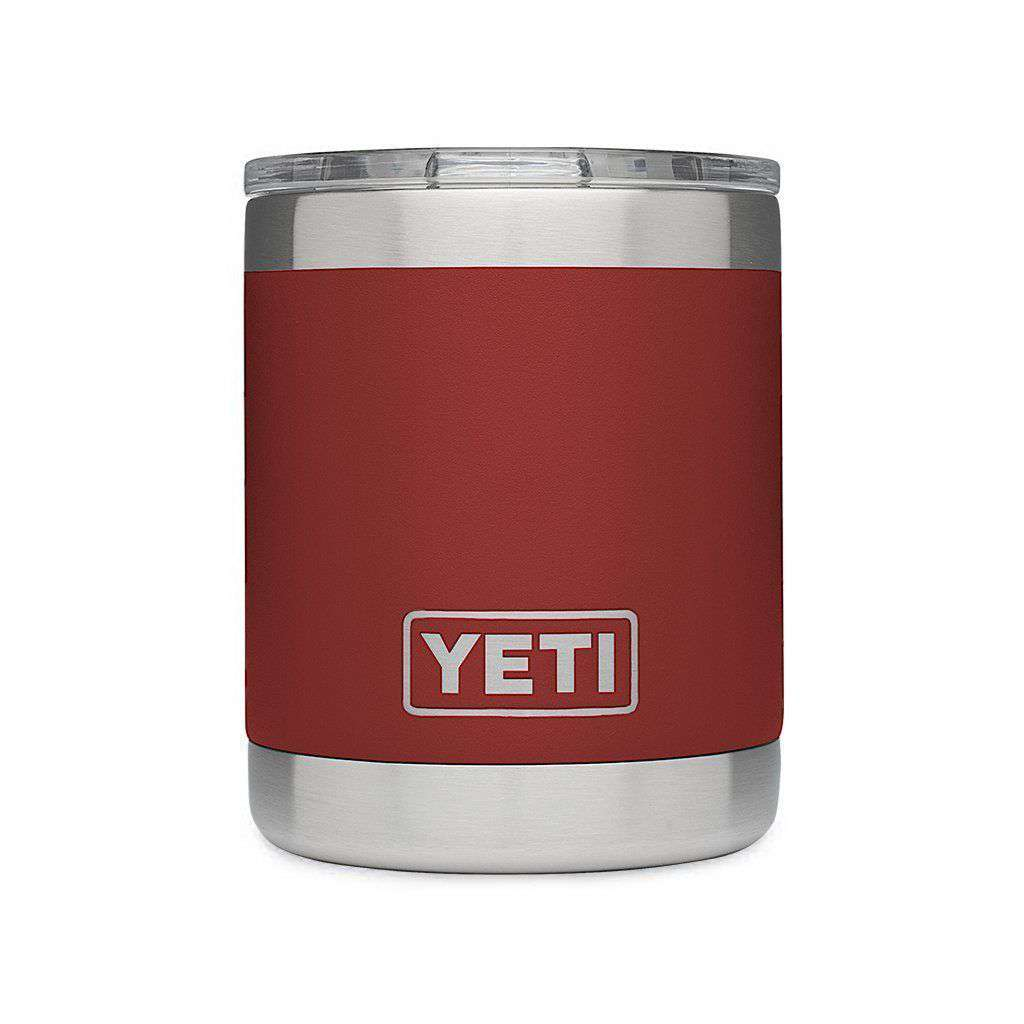 Cups & Glassware - 10 Oz. Rambler Lowball In Brick Red By YETI