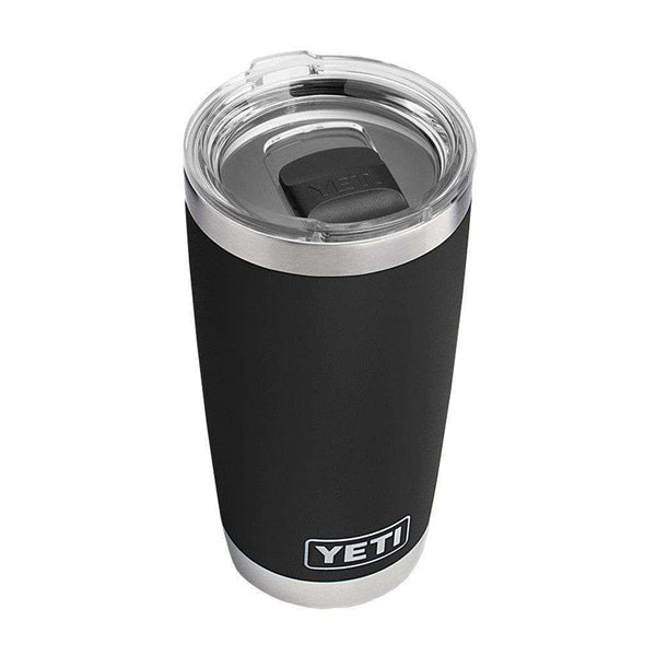 Cups & Glassware - 20 Oz. DuraCoat Rambler Tumbler In Black With Magslider™ Lid By YETI