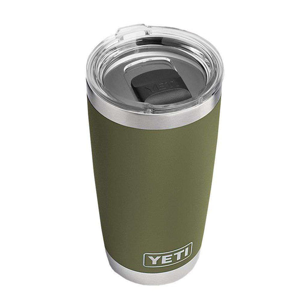 Cups & Glassware - 20 Oz. DuraCoat Rambler Tumbler In Olive Green With Magslider™ Lid By YETI