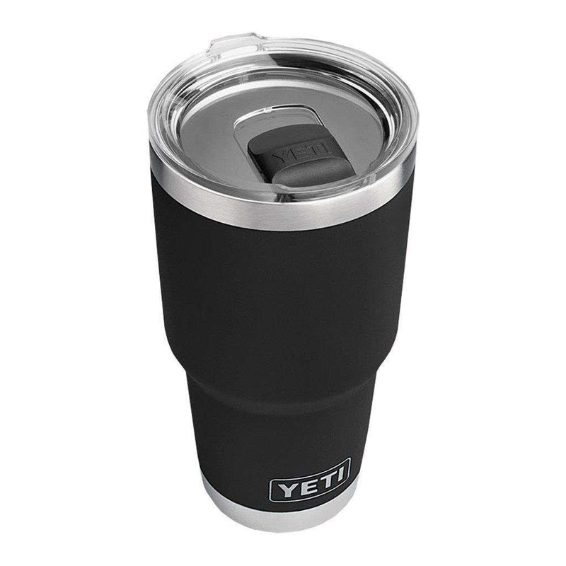 Cups & Glassware - 30 Oz. DuraCoat Rambler Tumbler In Black With Magslider™ Lid By YETI