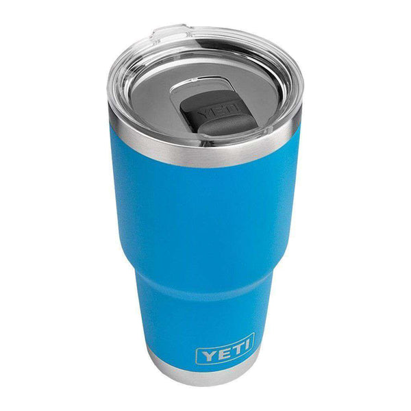 Cups & Glassware - 30 Oz. DuraCoat Rambler Tumbler In Tahoe Blue With Magslider™ Lid By YETI