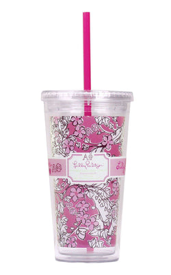 Cups & Glassware - Alpha Phi Tumbler With Straw By Lilly Pulitzer