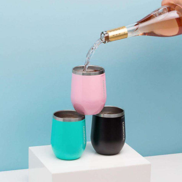 Cups & Glassware - Classic Stemless Wine Tumbler In Turquoise By Corkcicle