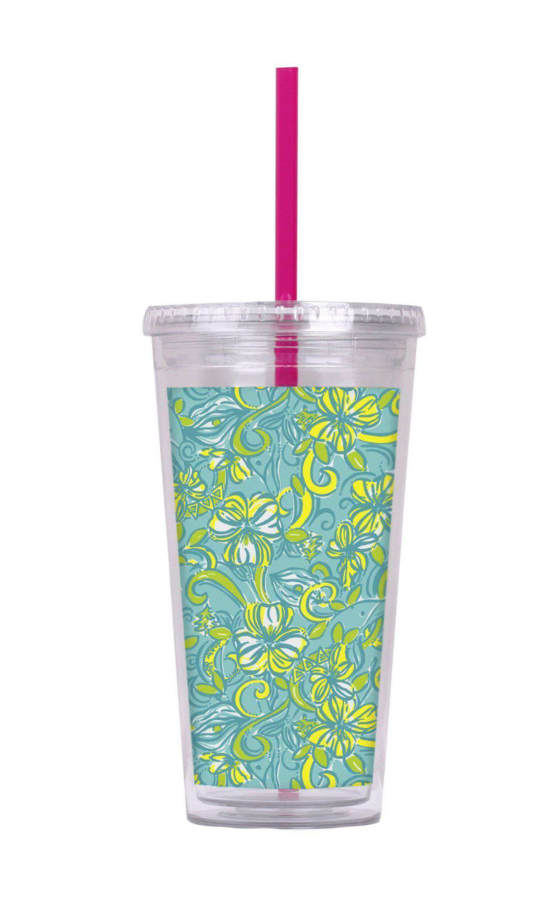 Cups & Glassware - Delta Delta Delta Tumbler With Straw By Lilly Pulitzer - FINAL SALE