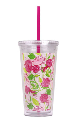 Cups & Glassware - Delta Zeta Tumbler With Straw By Lilly Pulitzer