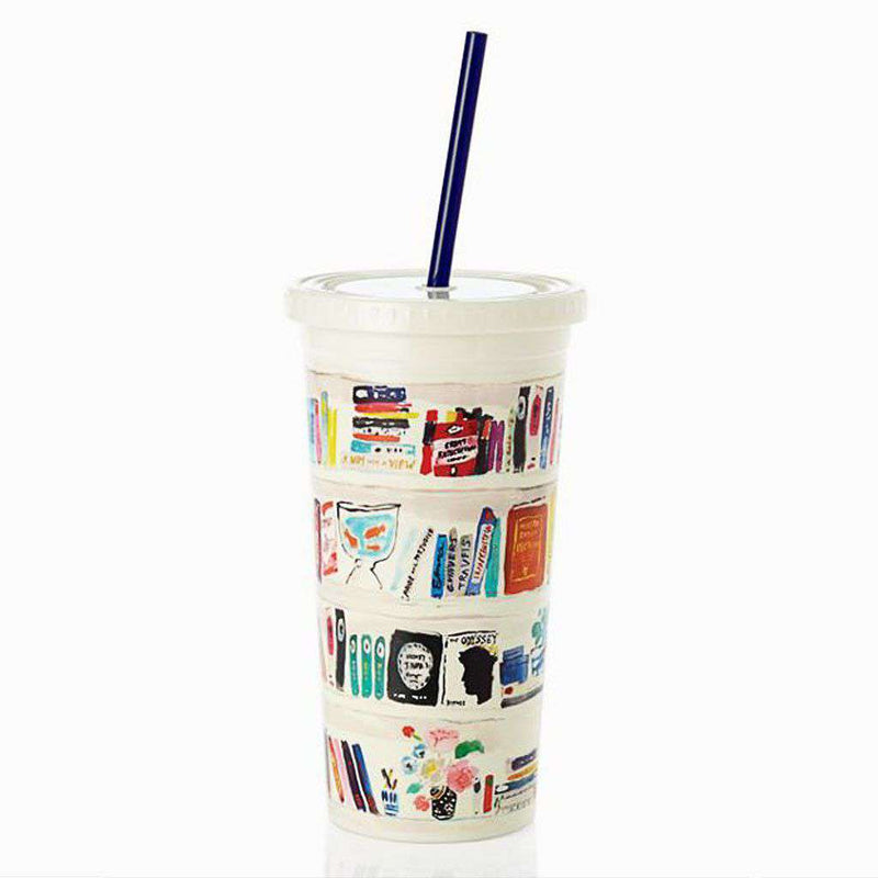 Cups & Glassware - Insulated Tumbler In Bella Bookshelf By Kate Spade New York