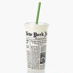 Cups & Glassware - Insulated Tumbler In Newsprint By Kate Spade New York