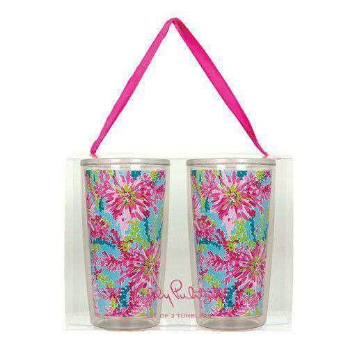 Cups & Glassware - Insulated Tumbler Set In Trippin' And Sippin' By Lilly Pulitzer - FINAL SALE