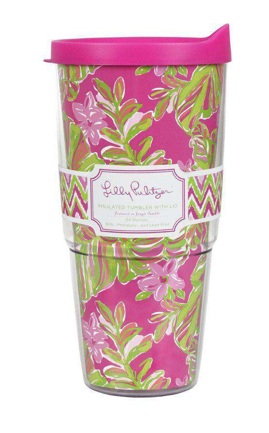 Cups & Glassware - Insulated Tumbler With Lid In Jungle Tumble By Lilly Pulitzer