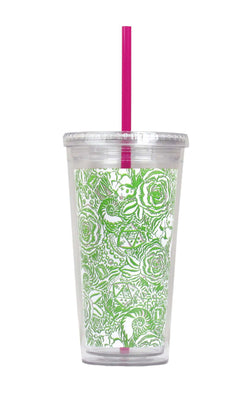 Cups & Glassware - Kappa Delta Tumbler With Straw By Lilly Pulitzer