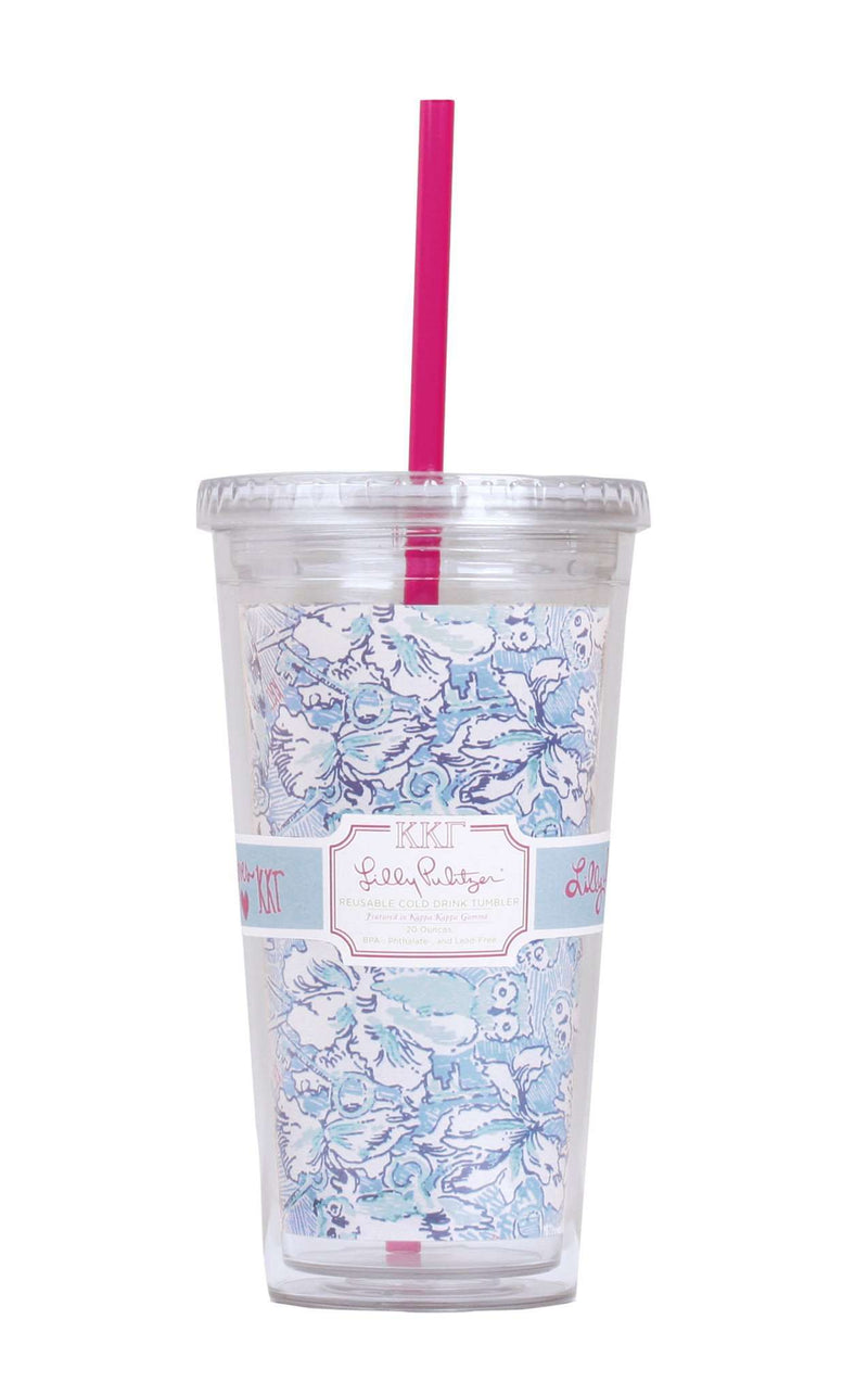 Cups & Glassware - Kappa Kappa Gamma Tumbler With Straw By Lilly Pulitzer