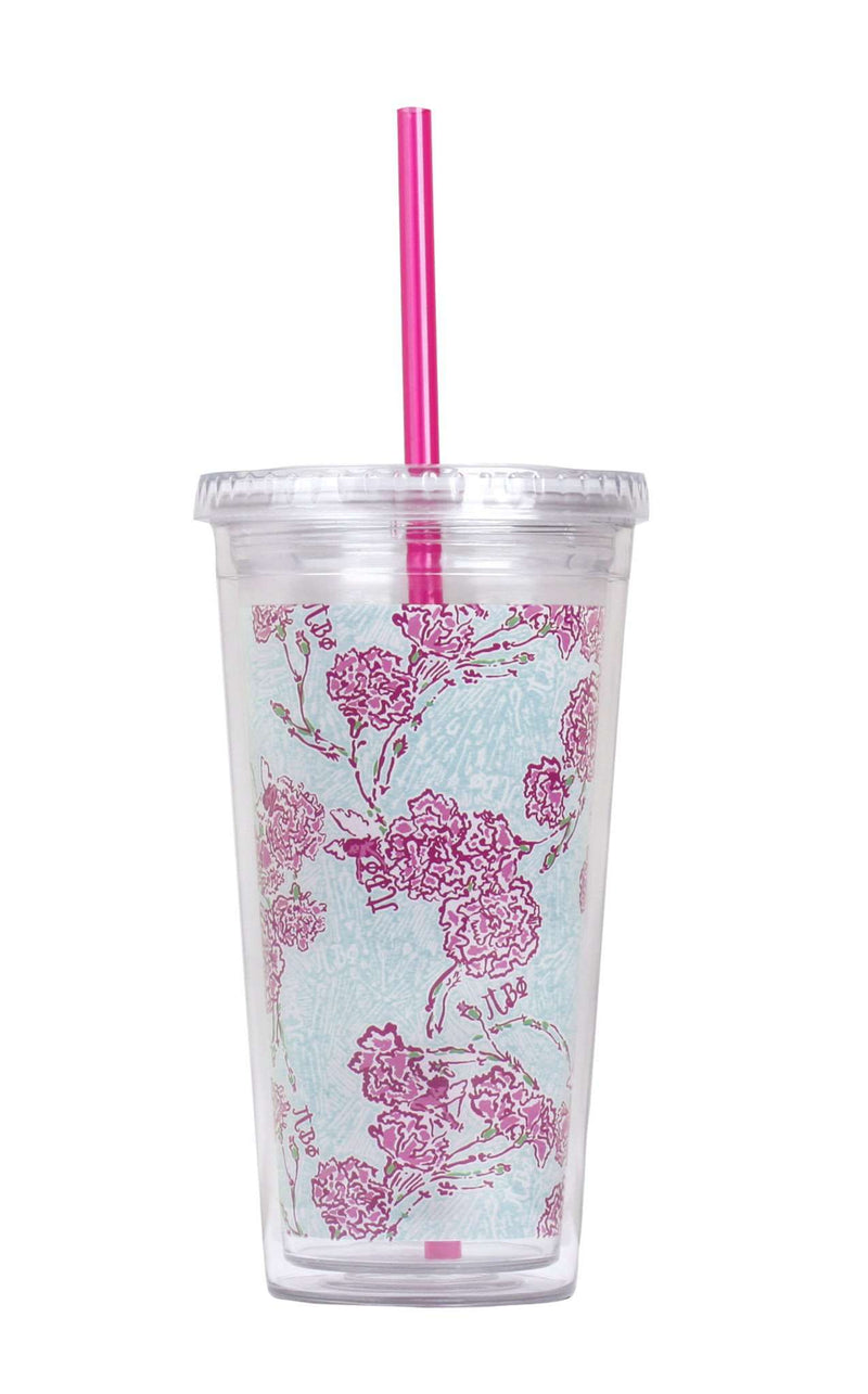 Cups & Glassware - Pi Beta Phi Tumbler With Straw By Lilly Pulitzer