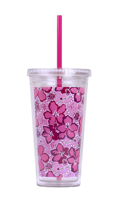 Cups & Glassware - Sigma Kappa Tumbler With Straw By Lilly Pulitzer - FINAL SALE
